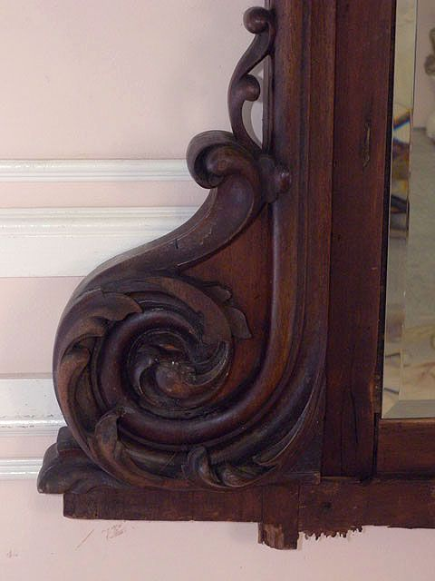 Shabby Vintage Chic Headboard French Mirror Rose Brown