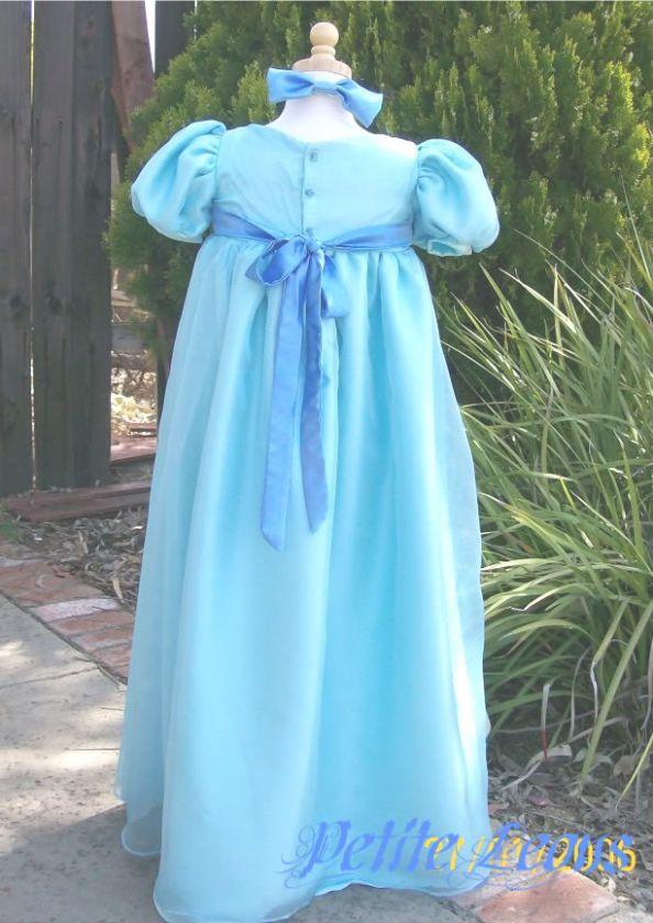 Wendy Darling Blue Dress Child Costume Peter Pan child costume custom