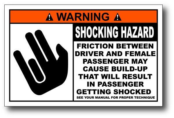 The Shocker Very Funny Warning Sticker Decal Gag Gift