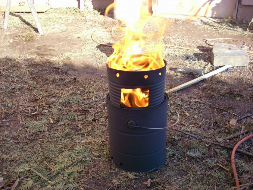 Paint Can Wood Gasifier : rocket wood stove Quotes