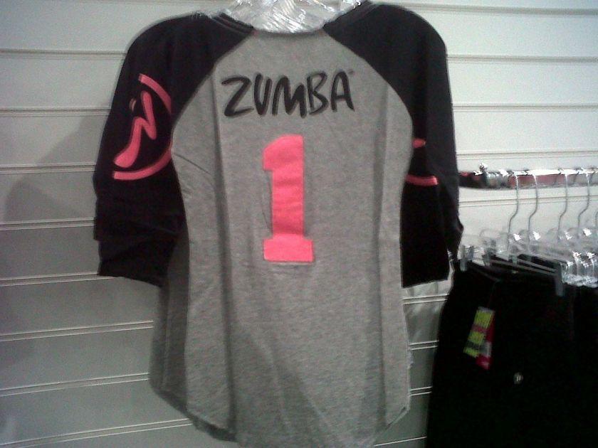 ZUMBA Zweet Baseball Tee Shirt Top from 2012 England Conference