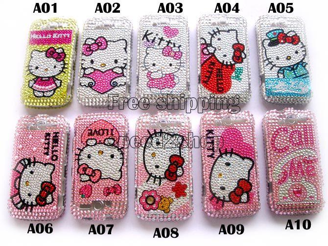 10 x Hello kitty Bling full Case Cover f HTC myTouch 4G