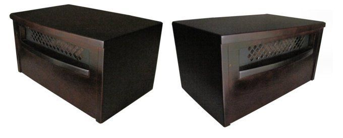Electric 750 Watt Infrared Quartz Portable Space Heaters   Mahogany